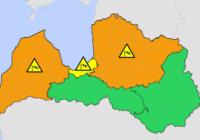 Sinoptiķi izplata brīdinājumu par bīstamiem laika apstākļiem