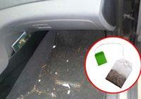 Kāpēc ir vērts automašīnas aizmugurē iekārt tējas maisiņu