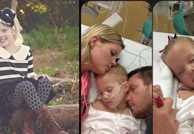 Piecgadīga meitene mirst vecāku rokās sešus mēnešus pēc nepareizi uzstādītas diagnozes. FOTO