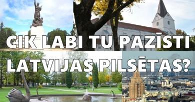 TESTS: Cik labi Tu pazīsti Latvijas pilsētas?