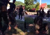 Baisi kadri, kā tiek sodīts karavīrs par nepabeigtiem treniņiem VIDEO