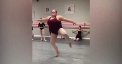 """15- gadīga """"plus-size"""" balerīna uzspridzina internetu! Kāpēc? Skatieties paši! VIDEO"""