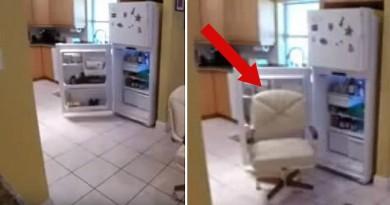 No ledusskapja regulāri pazuda ēdiens. Lai pieķertu vainīgo, tika uzstādīta kamera! VIDEO