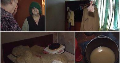DRAUSMAS: Ļoti laipna, labestīga un akla sirmgalve dzīvo drausmīgi smakojošā izgāztuvē! VIDEO