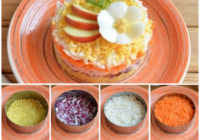 """Kārtainie rutku salāti """"Vitamīns"""". FOTORECEPTE"""