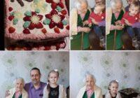 FOTO: Ar mazbērniem – 100 gadu starpība! Liepājnieci Mariju Dēklavu sveic 106 gadu jubilejā