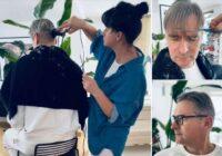 FOTO: Kā Mārtiņš Bondars tika pie smalka matu griezuma, neejot pie friziera!