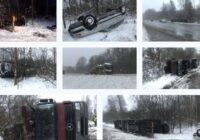 FOTO, VIDEO: Pie Iecavas avarē auto vedējs ar astoņiem spēkratiem