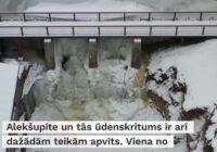 VIDEO: Aukstums pārvērš Kuldīgas Alekšupītes ūdenskritumu milzu lāstekās