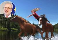 """""""Upes vidū zirgus nemaina."""" Jauns Levita izteiciens smīdina tautu"""