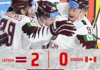 VIDEO: Latvijai vēsturiska uzvara pār Kanādu PČ hokejā